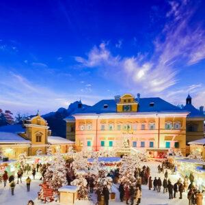 Vánoční čokoládovna Hauswirth a zámek Schloss Hof