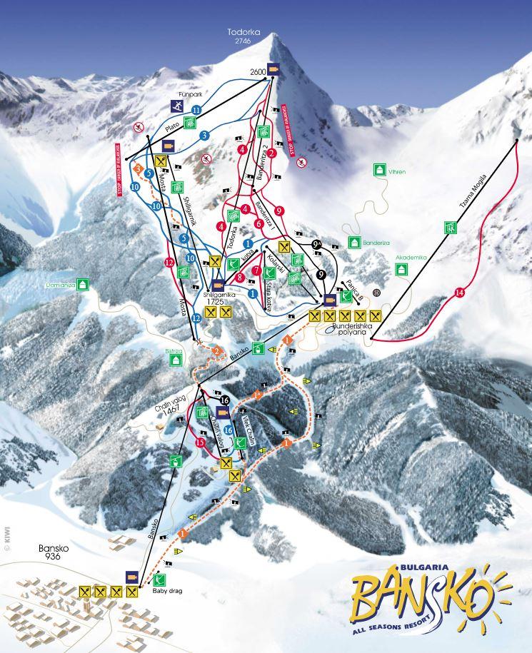 Bormio ski mapa
